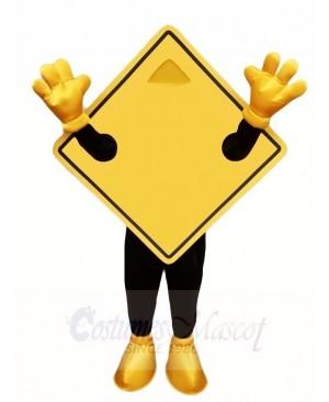 Yellow Guideboard Street Nameplate Mascot Costumes