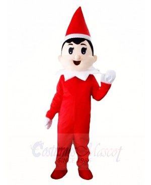 Red Hat Xmas Christmas Boy Mascot Costumes Halloween Cartoon