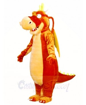 Brown Dragon with Wings Mascot Costumes