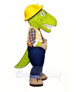 Green Male Dinosaur Mascot Costumes