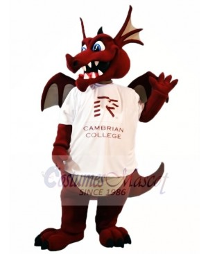 Wine Dragon with Wings Mascot Costumes