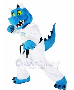 Blue Kung Fu Dragon Mascot Costumes