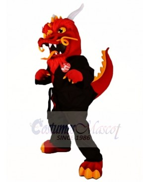 Red Kung Fu Dragon Mascot Costumes