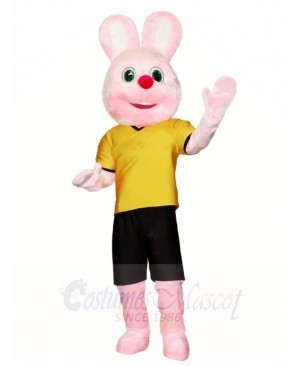 Pink Rabbit Mascot Costumes Easter Bunny Animal