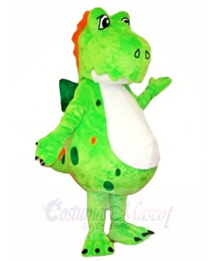 Green Fluffy Dinosaur Mascot Costumes