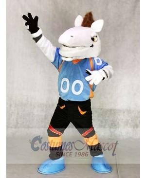 Blue Shirt Mustang Horse Broncos Mascot Costumes Animal
