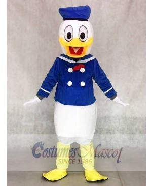 Cute Donald Duck Mascot Adult Costume