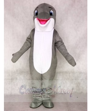 New Lovely Grey Dolphin Mascot Costumes Sea Ocean