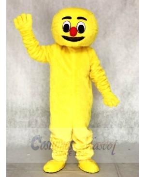 Hairy Yellow Boogie Man Adult Mascot Costumes
