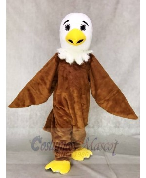White Head Friendly Eagle Mascot Costume