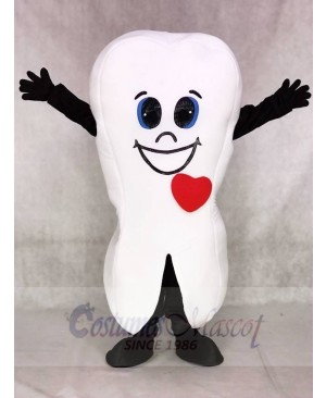 Grinning Tooth Mascot Costumes for Dentist Clinic
