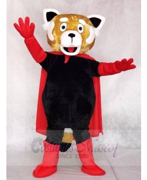 Red Lesser Panda Cat-Bear with Cloak Mascot Costumes Animal