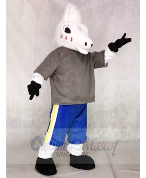 Cute Sport School Horse Mascot Costumes Animal