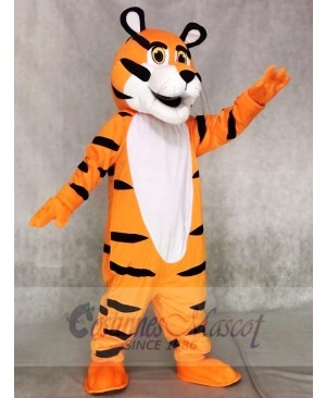 Tony the Tiger Mascot Costume Orange Tiger Fancy Dress Outfit