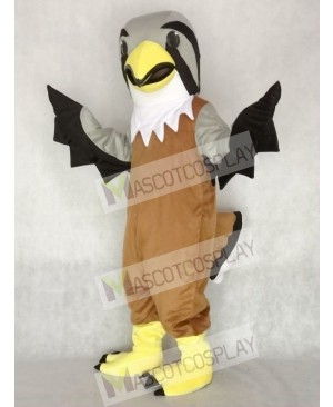 Cute Grey Head Falcon Mascot Costume Animal
