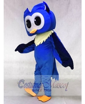 Adult Friendly Big Blue Owl Mascot Costume Animal