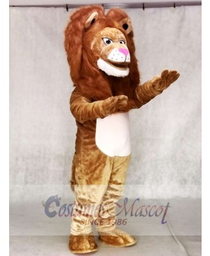 Adult Fierce Tan Wally Lion Mascot Costume