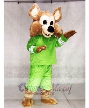 Custom Color Green Arizona Coyotes Howler the Coyote Wolf Mascot Costumes