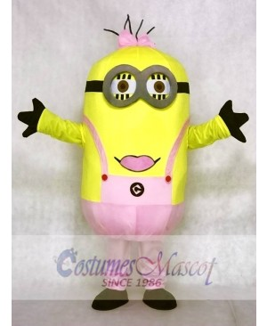 Despicable Me Pink Bow Minions Mascot Costumes