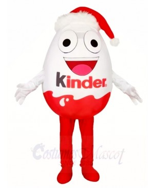 Kinder Egg with Christmas Hat Mascot Costumes