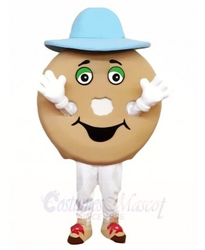 Blue Hat Bagle Mascot Costumes Food