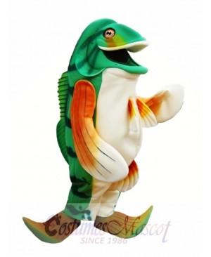 Bass Fish Mascot Costume Green Fish Mascot Costumes Animal