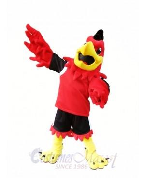 Red Hawk Mascot Costume Mo the Falcon Mascot Costumes