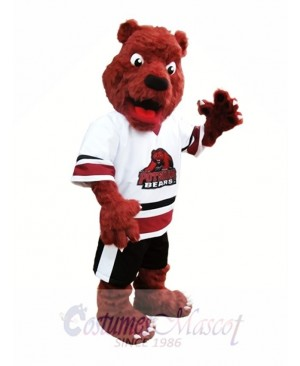 Rust Red Bear Mascot Costume Postdam Bears Mascot Costumes