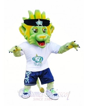 Light Green Lion Mascot Costumes