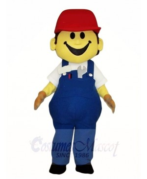 Building Worker Builder Mascot Costumes People