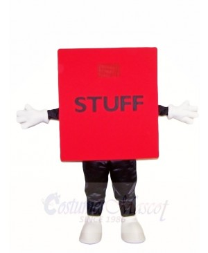 Red Stuff Cube Mascot Costumes