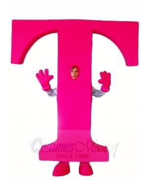 Magenta Letter Alphabet T Mascot Costumes