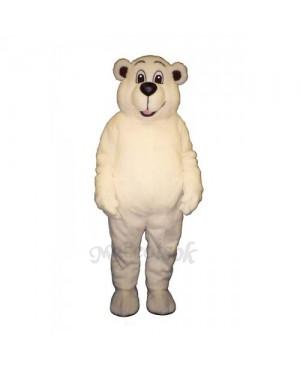 Johnnie Polar Bear Mascot Costume