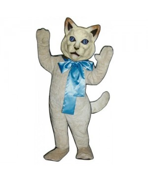 Cute Cat with Bow Mascot Costume