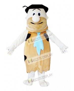 Fred Flintstone Modern Stone Age Brown Savage Mascot Costume