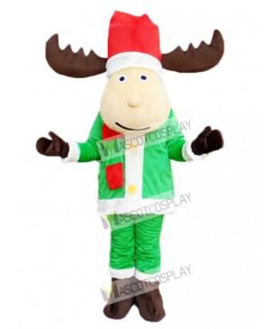 Cute Christmas Deer Reindeer Mascot Costume