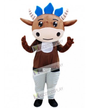 Brown Cattle Calf Mascot Costume