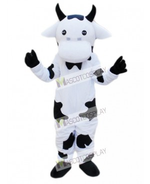 Black and White Cow Mascot Costume