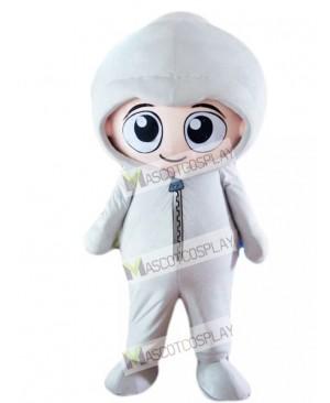 Gray Hoodie Boy Baby Mascot Costume