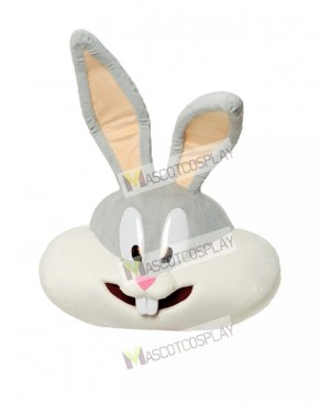 Gray Bunny Mascot Head ONLY