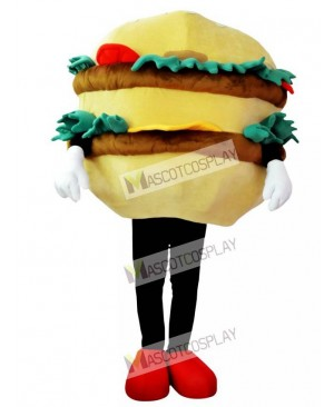 High Quality Adult Hamburger with Cheese Mascot Costume