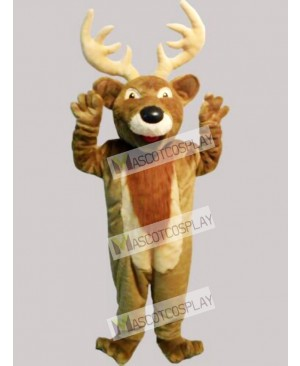 Cute Christmas Elk Deer Mascot Costume
