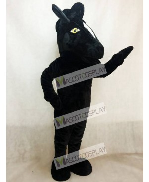 Adult Black Mustang Horse Mascot Costume Animal