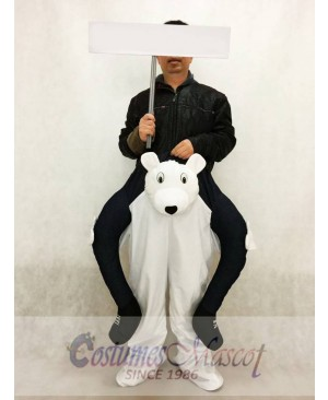 Piggyback Polar Bear Carry Me Mascot Costume White Bear Mascot