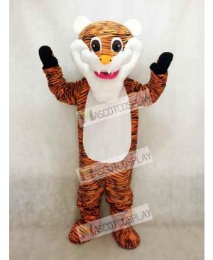 White Beard Tiger Mascot Costume