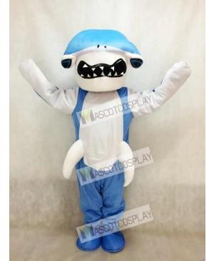 Blue Hammerhead Shark Mascot Costume Ocean