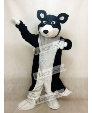 New Black and White Border Collie Husky Dog Mascot Costume Animal