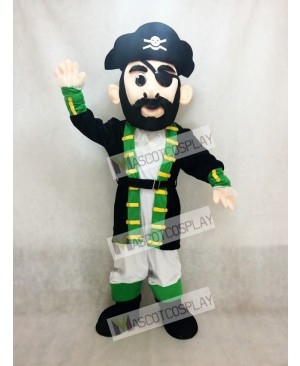 New Green Cuff Captain Blythe Pirate Mascot Costume