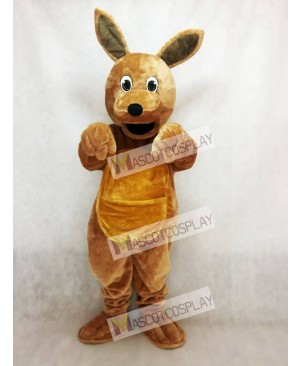 Long Hair Brown Kangaroo Mascot Costume Animal