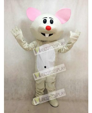 Gray Mouse With Red Nose Mascot Costume Animal